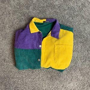 Purple, Green, Yellow 80s esk Jacket
